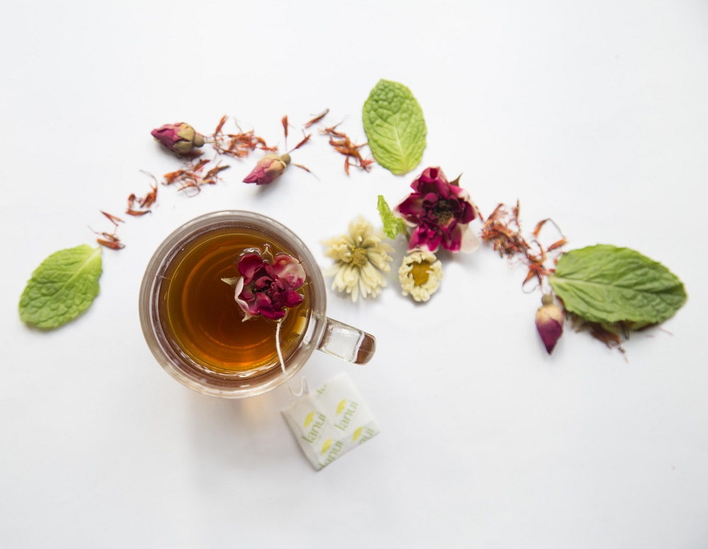 trà thảo dược Lá núi slim hỗ trợ giảm cân, hạ mỡ máu
